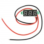 "W04 0.28 ""Red Light LED Digital Voltmeter-Modul - Schwarz (DC 2.50 ~ 30V)"