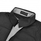Fashion Cotton Blended Men's Long Sleeves Shirt - Black (Size-XL)