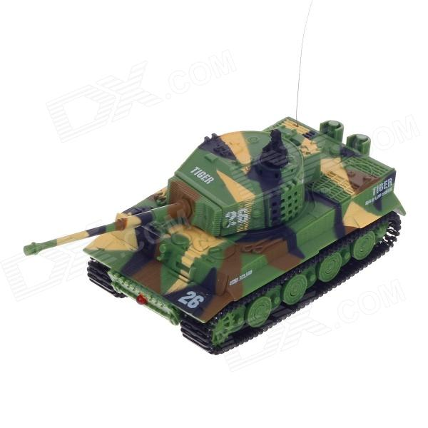 1:72 2.5-Channel Radio Control Battle Tank Model Toy - Green + Yellow + Black (35MHz)