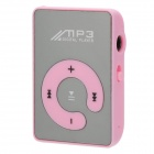 Portable Rechargeable MP3 Player w/ Clip, TF, Earphones - Pink +Silver