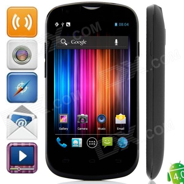A209W Dual-Core Android 4.0.9 WCDMA Bar Phone w/ 4.0″ Capacitive Screen, FM, GPS and Wi-Fi – Black