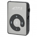 Portable Rechargeable MP3 Player w/ Clip, TF, Earphones - Black+Silver