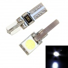 Merdia 1.5W 24lm 2-SMD 5050 LED White Light Car Clearance Lamp / Instrument Lamp - (12V / 2 PCS)
