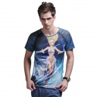 XING LONG 003 3D Animation Game T Shirt for Men -Multicolored (Size-XL)