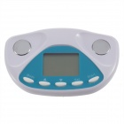29 x 21mm Digital Body Fat Meter Analyzer Monitor Weight Loss Tester - White + Blue (1 x CR2032)