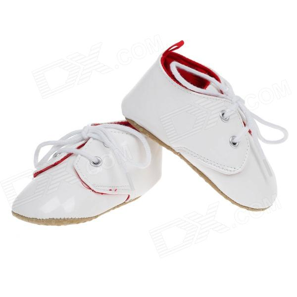 Fashionable Cute Soft PU Baby Shoes White 9 12 Months