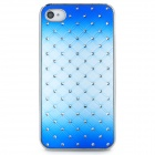 Rhinestone + PC Protective Back Case for Iphone 4 / 4S - Blue