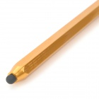 Pencil Shape Double-end Capacitive Touch Screen Stylus Pen - Golden