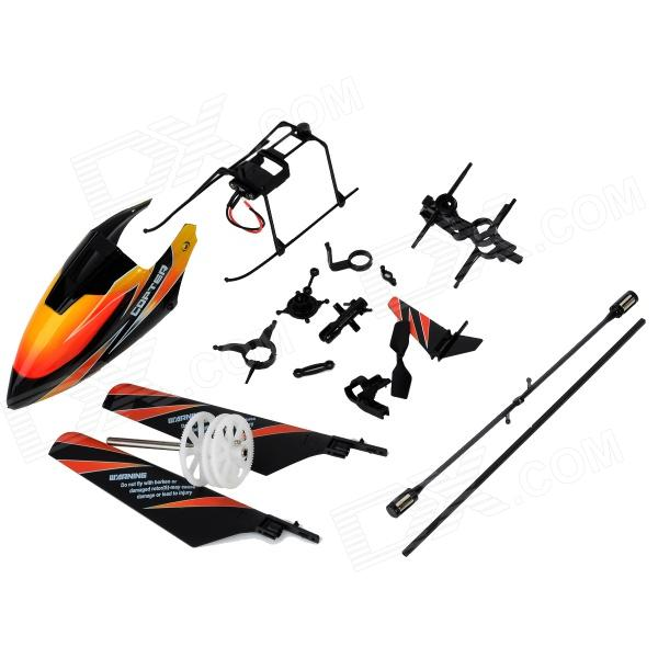 WLtoys KV911-0001 4Ch RC Helicopter Spare Parts Accessories Set - Black + Orange + White (19 PCS) 5pcs wltoys v911 rc helicopter brushless motor accessories bag kv911 0005 f929 f939 battery 5pcs 3 7v 200mah lithium batteries