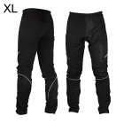ROSWHEEL Outdoor Sports Wind Resistant Warmer Bicycle Cycling Pants - Black (Size XL)