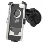 Suction Cup Car Mount Holder w/ Protective Case for Iphone 5 - Black + White