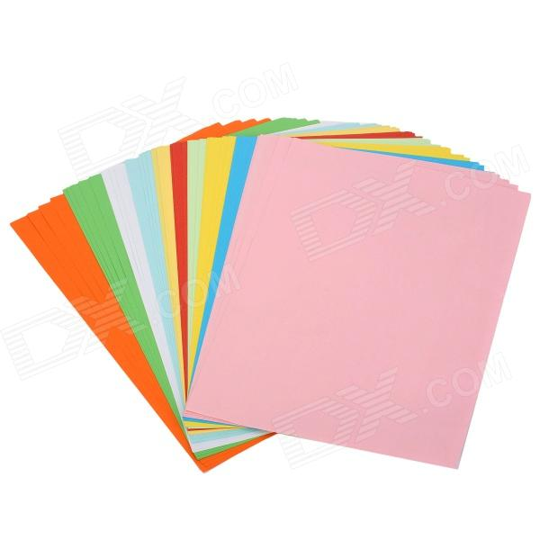10-Color A4 Paper Set (50 PCS) assorted colors tagboard 12 x 9 blue canary green orange pink 100 pack