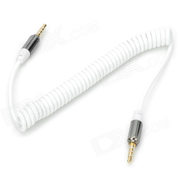 Cable de transmisión de audio retractable macho  - blanco + plata
