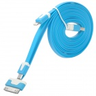 USB Male to 30-Pin / 8-Pin / Micro USB Data Charging Data Cable - Blue (1m)