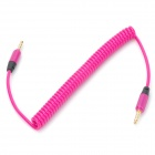 Retractable 3.5mm Male to Male Audio Transmission Cable - Deep Pink