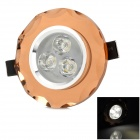 HUGEWIN HSD803 3W 180lm 3500K 3 x LED Warm White Crystal Decke Downlight - Champagne (85 ~ 265V)