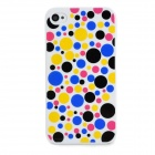 Colorful Polka Dot Pattern Protective Plastic Back Case for iPhone 4 / 4S - Multicolor