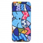 Cute Relief Graffiti Style Frosted Protective Plastic Back Case for Iphone 5 - Multicolor