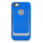 Unique Protective TPU + PC Back Case for iPhone 5 - Blue