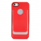 Unique Protective TPU + PC Back Case for iPhone 5 - Red