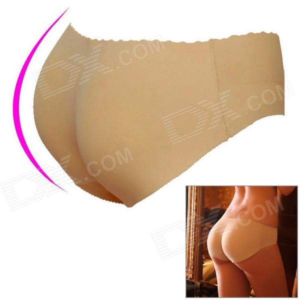 Traceless Thickened Hip-lifting Underwear Pants for Women - Beige (Size-L)