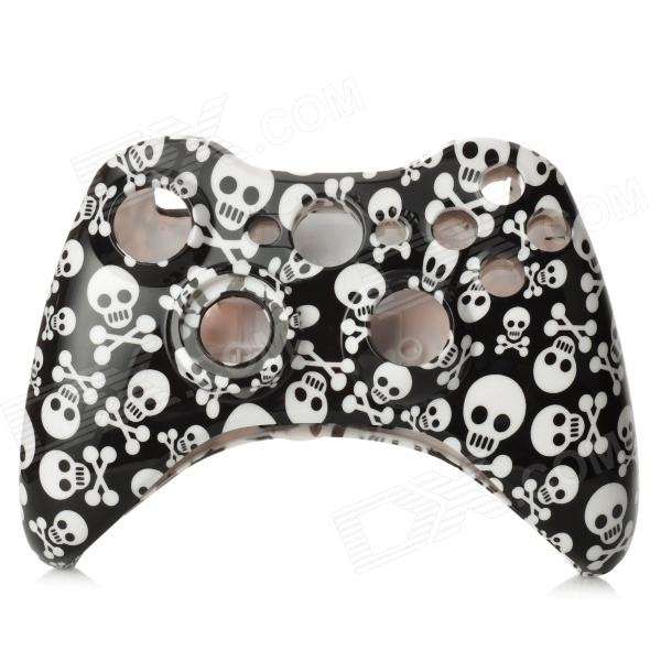 Cool Skull Pattern Replacement Housing Case Set for XBOX 360 Wireless Controller  - Black + White