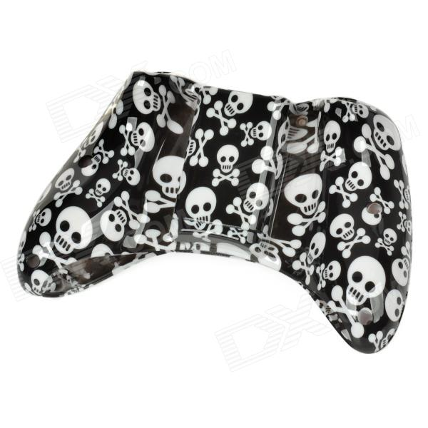 coole totenkopf muster ersatz geh use case set f r xbox 360 wireless controller schwarz wei. Black Bedroom Furniture Sets. Home Design Ideas