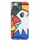 Stylish Bird Style Relief Graffiti Frosted Protective Plastic Back Case for Iphone 5 - Multicolor