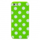 Polka Dot Style Protective Silicone Back Case for Iphone 5 - Green + White