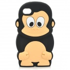 Cute Monkey Style Silicone Back Case for Iphone 4 / 4S - Black