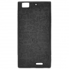 Cute Cartoon Pattern Protective Plastic Back Case for Lenovo K900 - Black