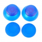 Replacement Plastic Rocker Cap + Nonslip Silicone cap Set for PS3 - Blue (2 Pairs)
