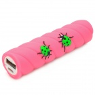 Cartoon Beetles on Stick Style 2200mAh External 18650 Li-ion Battery Charger - Deep Pink