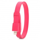 Armband-Art USB-Stecker auf Blitz Male Data Sync-& Ladeflachkabel 8Pol - Rot (25.6cm)