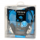OVLENG T168 Stylish Extractable Wired 3.5mm Jack Headset w/ Microphone - Black + Silver