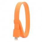 Armband-Art USB-Stecker auf Blitz Male Data Sync-& Ladeflachkabel 8Pol - Orange (25.6cm)