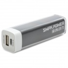 SWPKPOWER A22618 Lipstick Style External 2600mAh Power Bank for Iphone / Samsung - Black