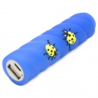 Cartoon Beetles on Stick Style 2200mAh External 18650 Li-ion Battery Charger - Blue