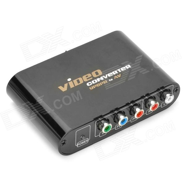 YPbPr Component Video to CVBS Composite and S-Video Scale-down Converter hightek hk vyth vga ypbpr to hd interface converter vga to hd ypbpr to hd converter