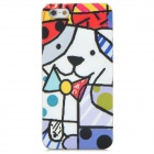 Cute Dog Style Relief Graffiti Frosted Protective Plastic Back Case for iPhone 5 - Multicolor