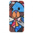 Stylish Bear Style Relief Graffiti Frosted Protective Plastic Back Case for Iphone 5 - Multicolor