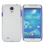 Protective PC + TPU Back Case for Samsung Galaxy S4 i9500 - Blue + Transparent