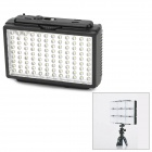 PIXEL SONNON DL912 588lm 5500k 108-LED Light-Compensating Lamp w/ 2 Filters for Camera - Black