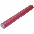 3D Car Decorative Carbon Fiber Sticker - Wine Red (30 x 127CM)