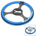 Car Steering Wheel Shaped Anti-Slip Silicone Mat Pad for Cell Phones - Blue + Black + White