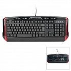 Genius LeiShen K11 Professional USB 2.0 Wired 112-Key Gaming Keyboard w/ Backlight - Black + Red