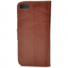 Protective PU Leather Flip-Open Case for IPHONE 5 - Brown