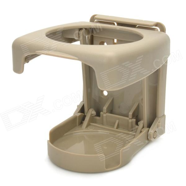 Multifunction Folding Plastic Bottle-Drink Cup Holder - Khaki