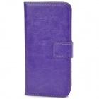 Schutz PU-Leder Flip-open für iPhone 5 - Purple