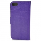 Protective PU Leather Flip-Open Case for Iphone 5 - Purple
